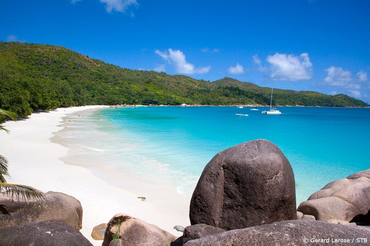 anse lazio praslin Seychely pláž