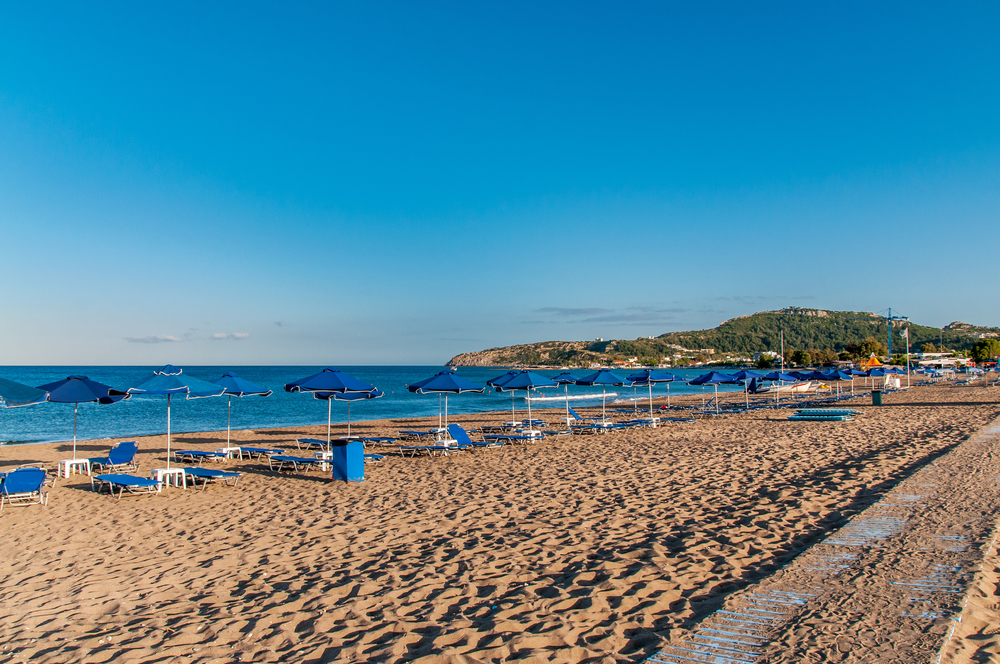 Pláž Faliraki Rhodos